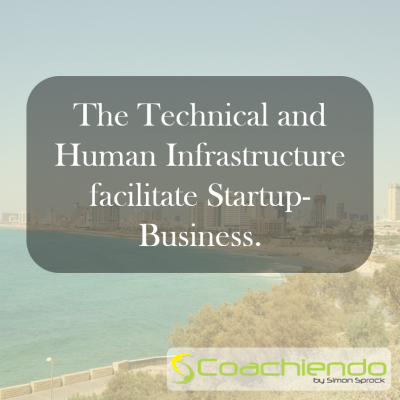The Technical and Human Infrastructure facilitate Startup-Business.