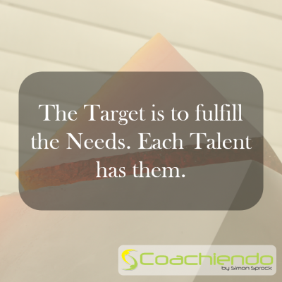 The Target is to fulfill the Needs. Each Talent has them.
