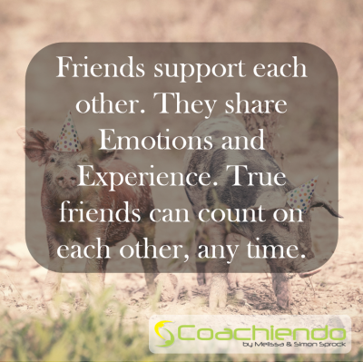 Friends support each other. They share Emotions and Experience. True friends can count on each other, any time.